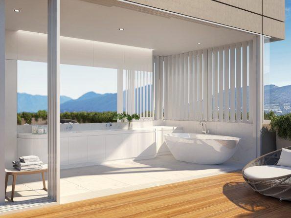 Terrace House PortLiving bath