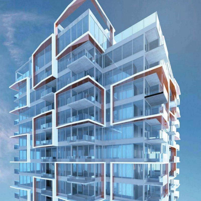 810 Agnes New Westminster tower rendering