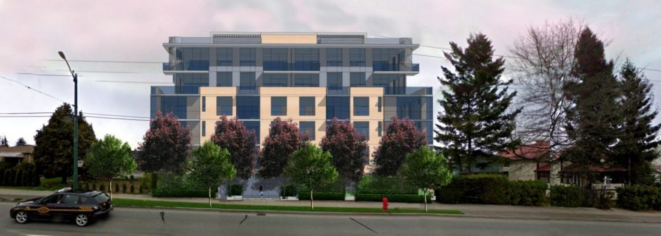 Six-storey condominium building proposed for Oak Street in Marpole