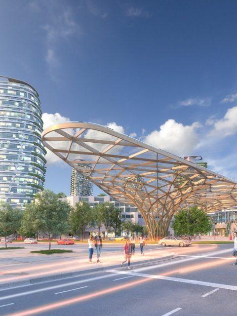 Oakridge redevelopment rendering transit hub
