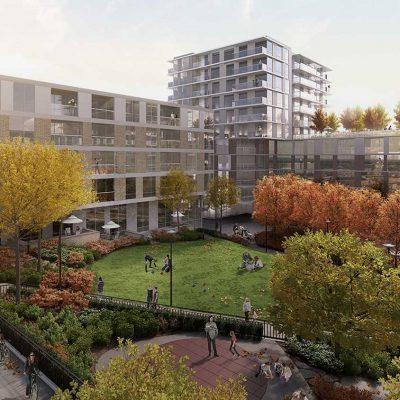 Serracan Fraser Commons condos rendering