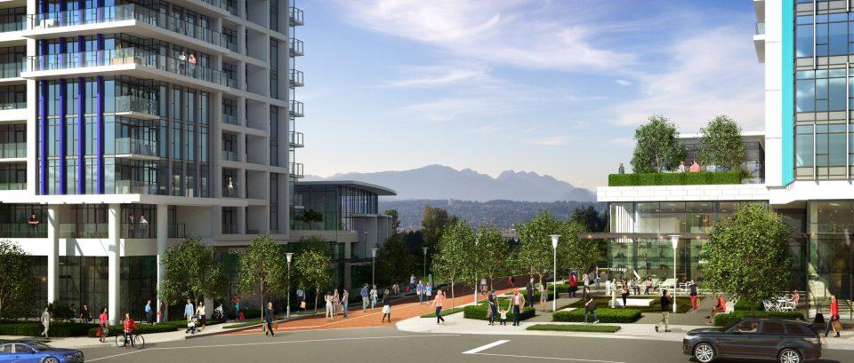 Tien Sher Whalley development rendering of street