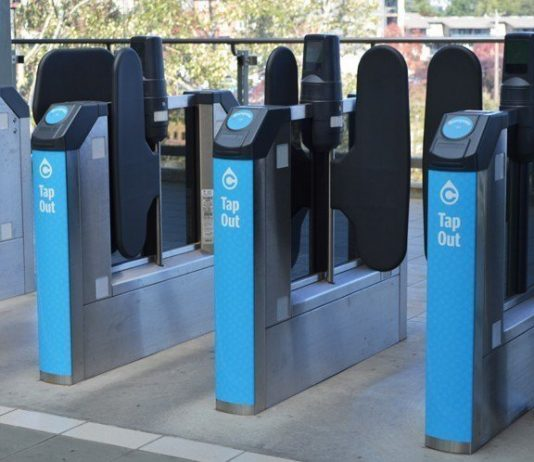 Translink fare gates accessible