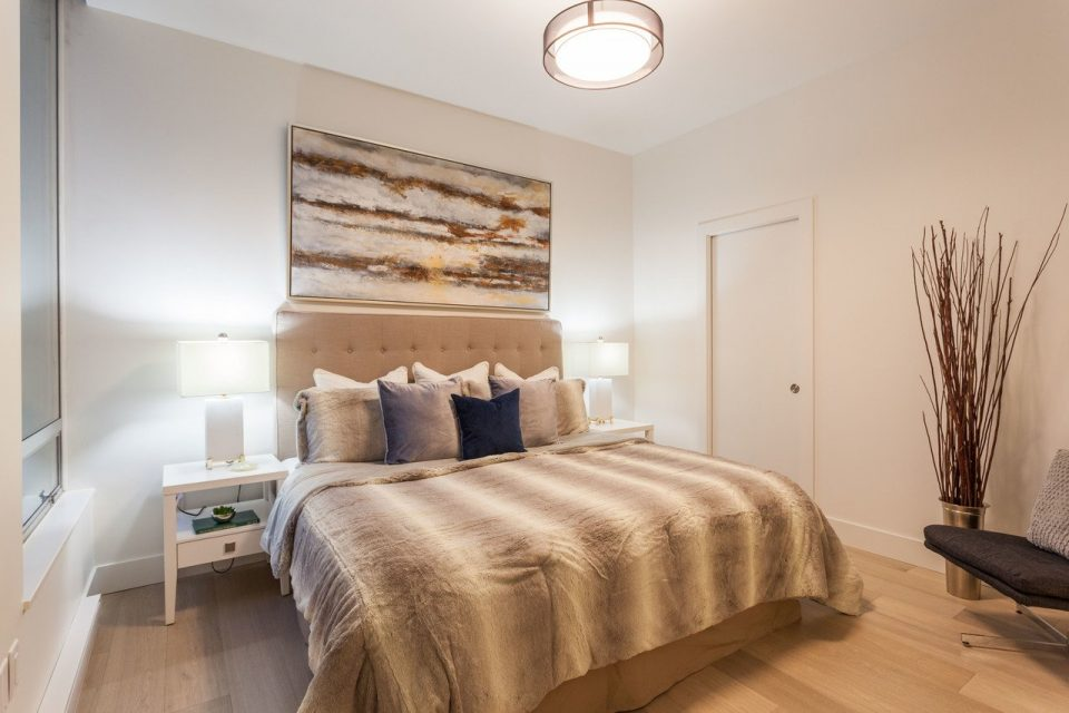 Yaletown penthouse bedroom