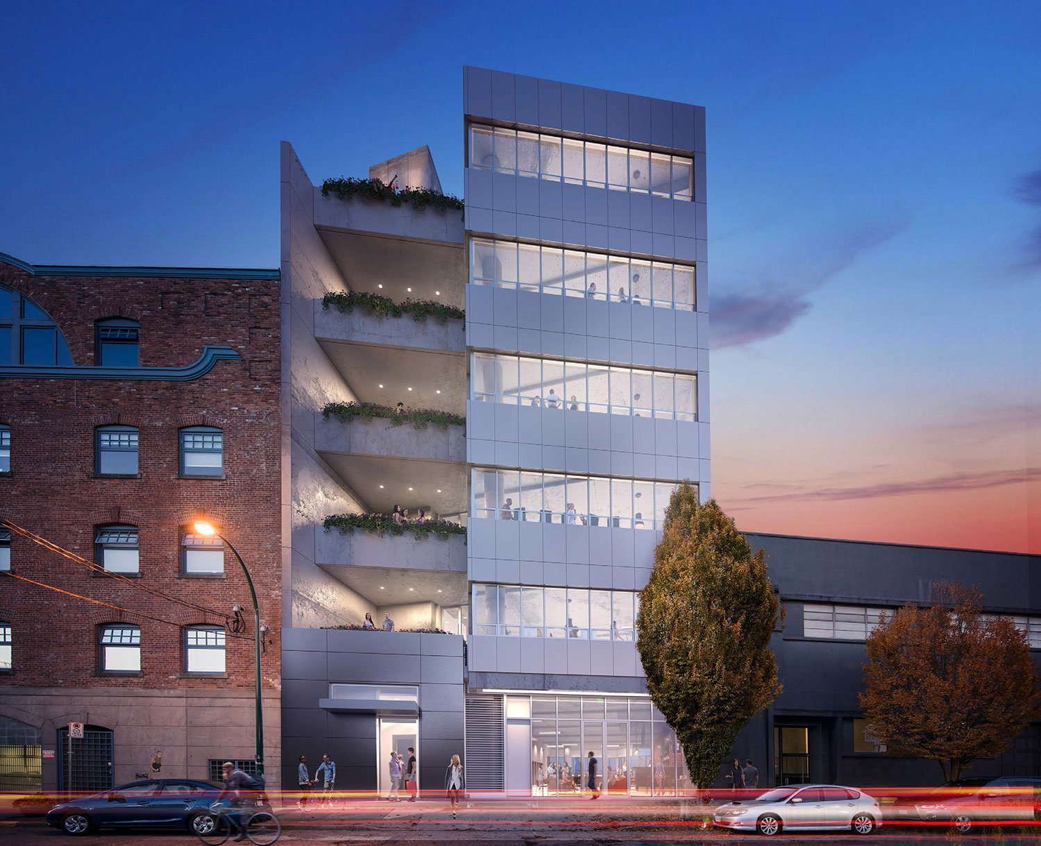 Bench Railtown office space rendering