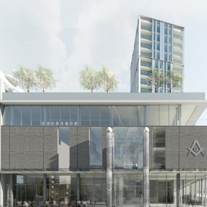 Vancouver Masonic Centre redevelopment entry