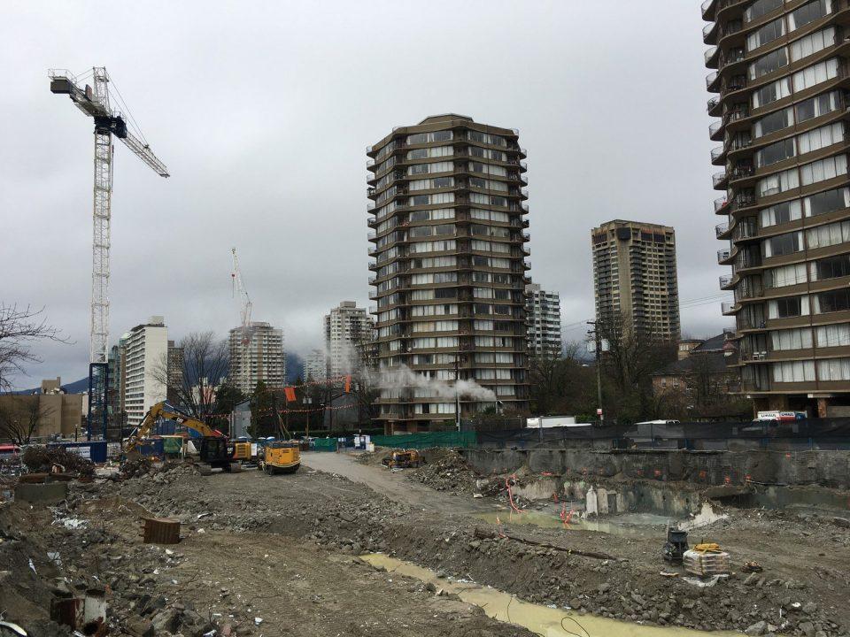 West End redevelopment Westbank Davie Street