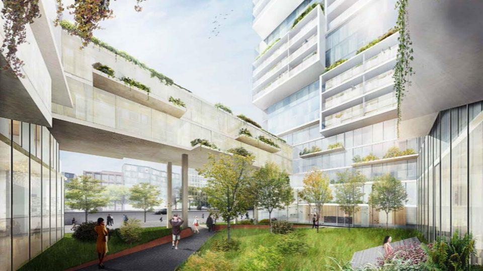 1040-1080 Barclay Street rendering courtyard 2018