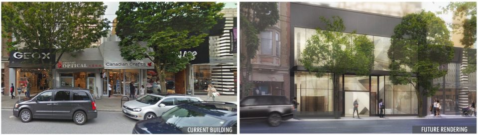 1067 Robson rendering before and after