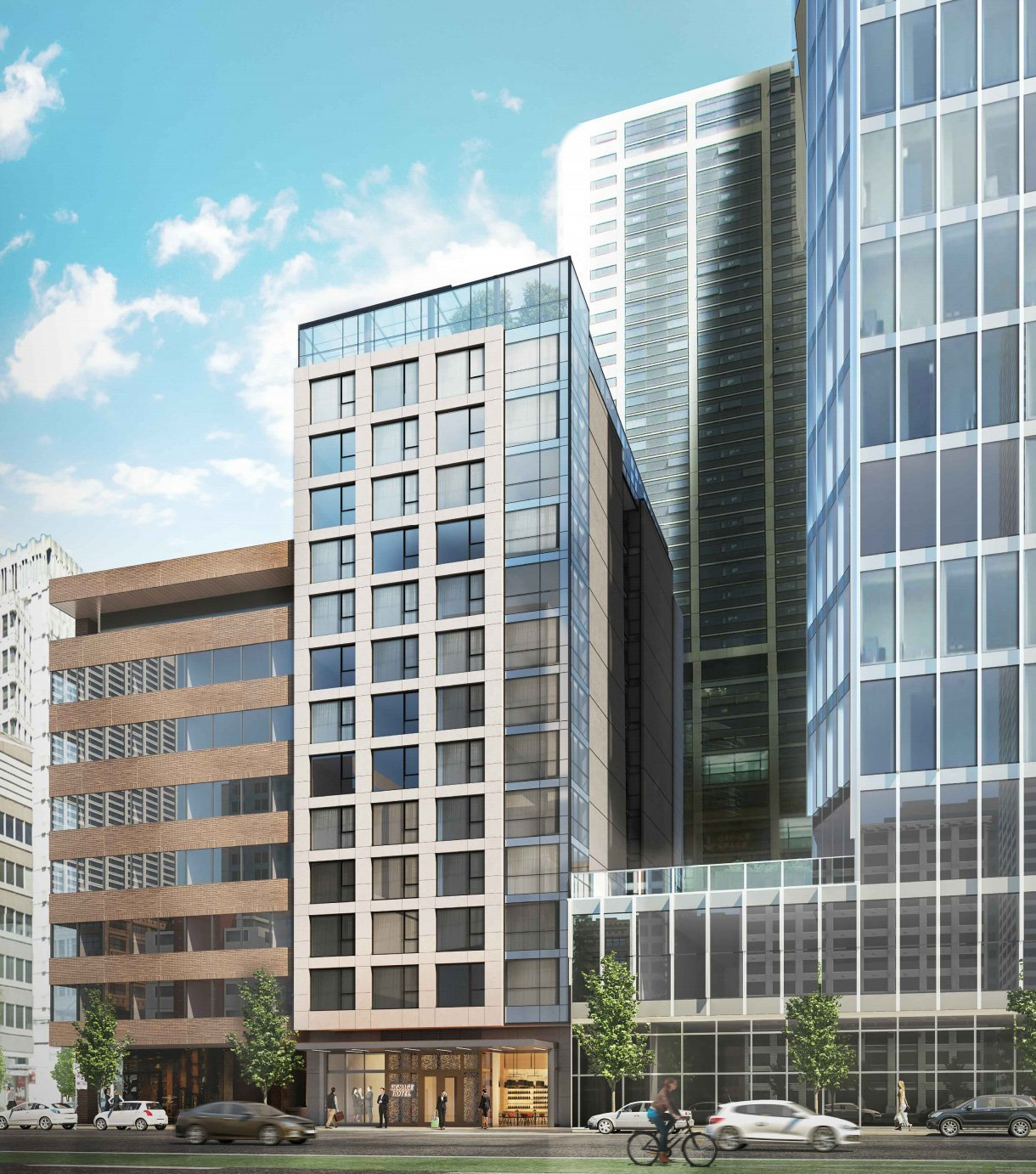 833 West Pender Executive Hotel building rendering