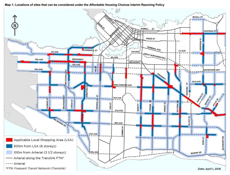 Affordable Housing Choices Interim Rezoning Policy Map
