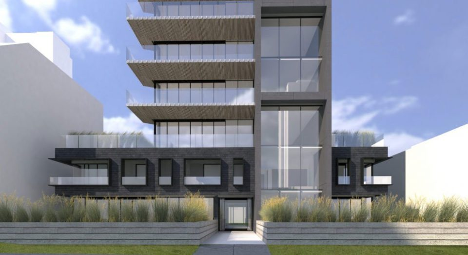 1150 Barclay entrance rendering