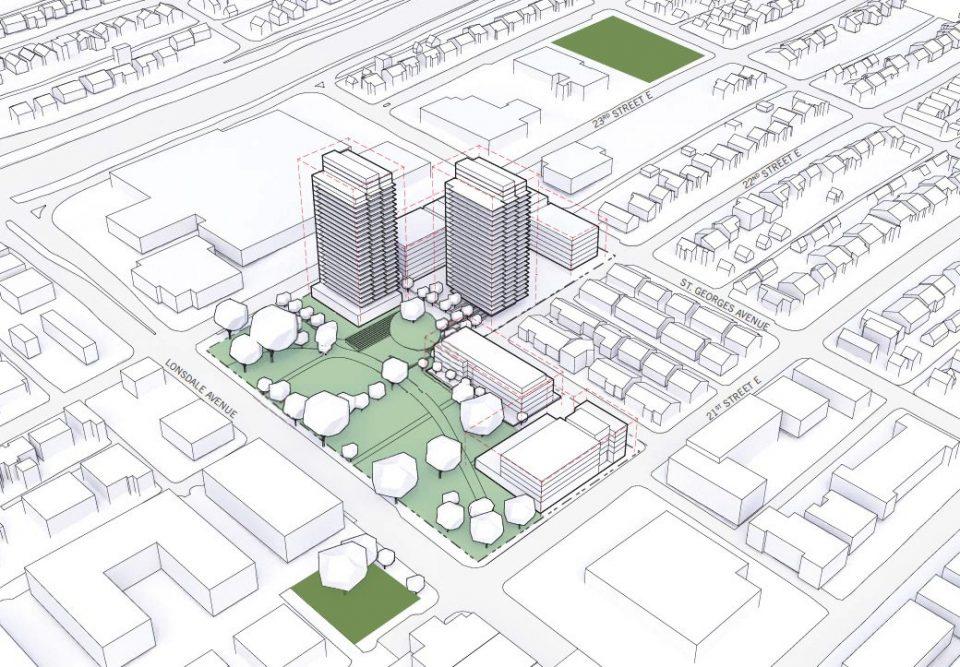Harry Jerome Neighbourhood Lands tower massing