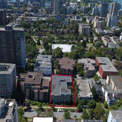 Shermanor Apartments 1150 Barclay aerial