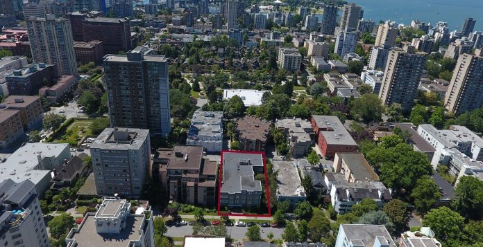 Shermanor Apartments 1150 Barclay aerial