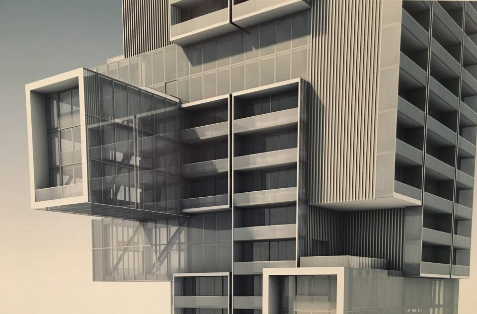 Cantilevered suites