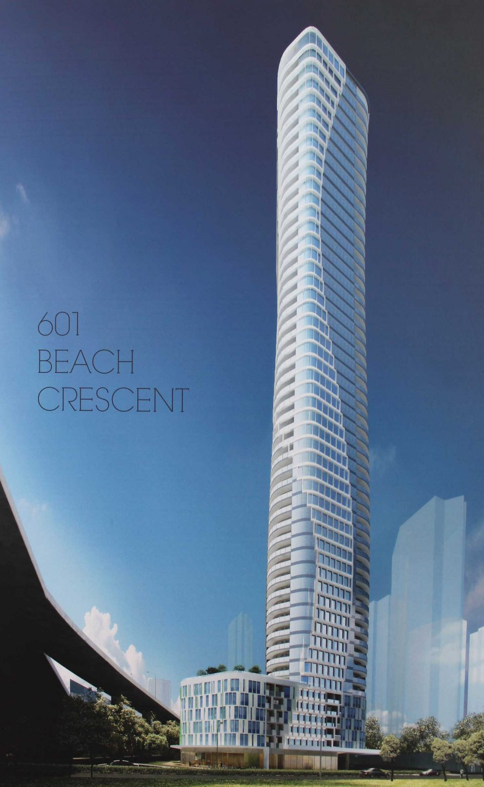 601 Beach Crescent tower rendering