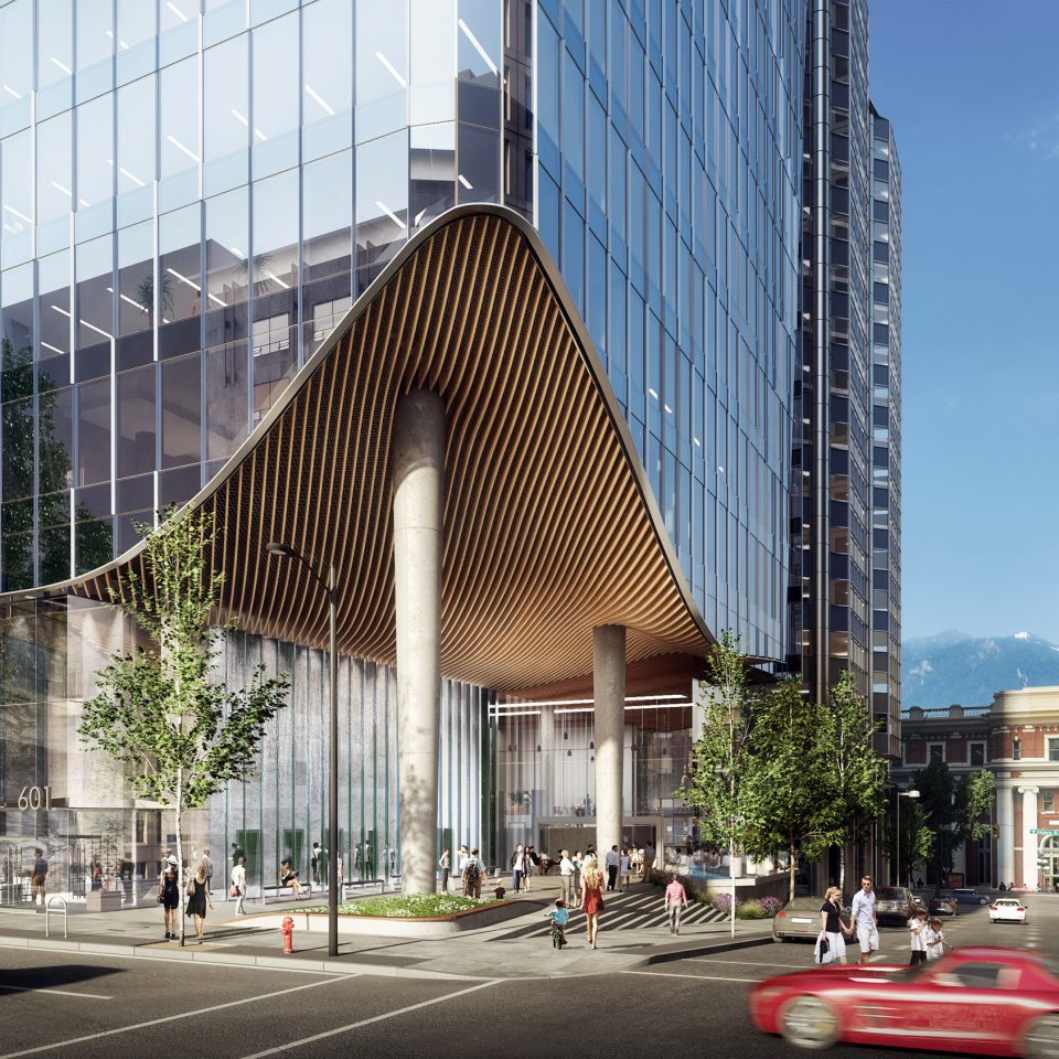 601 West Hastings office tower will reintroduce public plaza