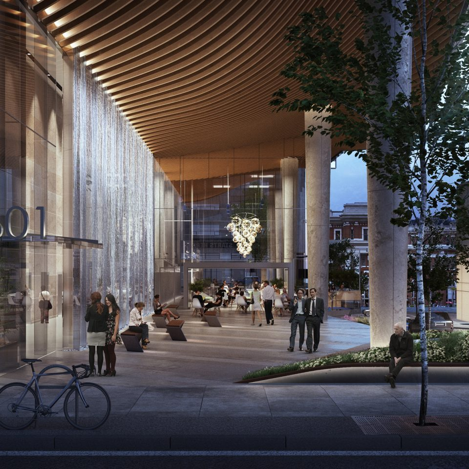 601 West Hastings office lobby rendering