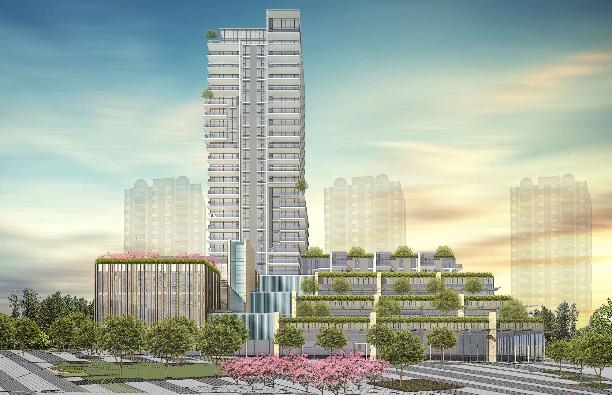 Design for 27-storey tower on Pearson Dogwood lands revealed