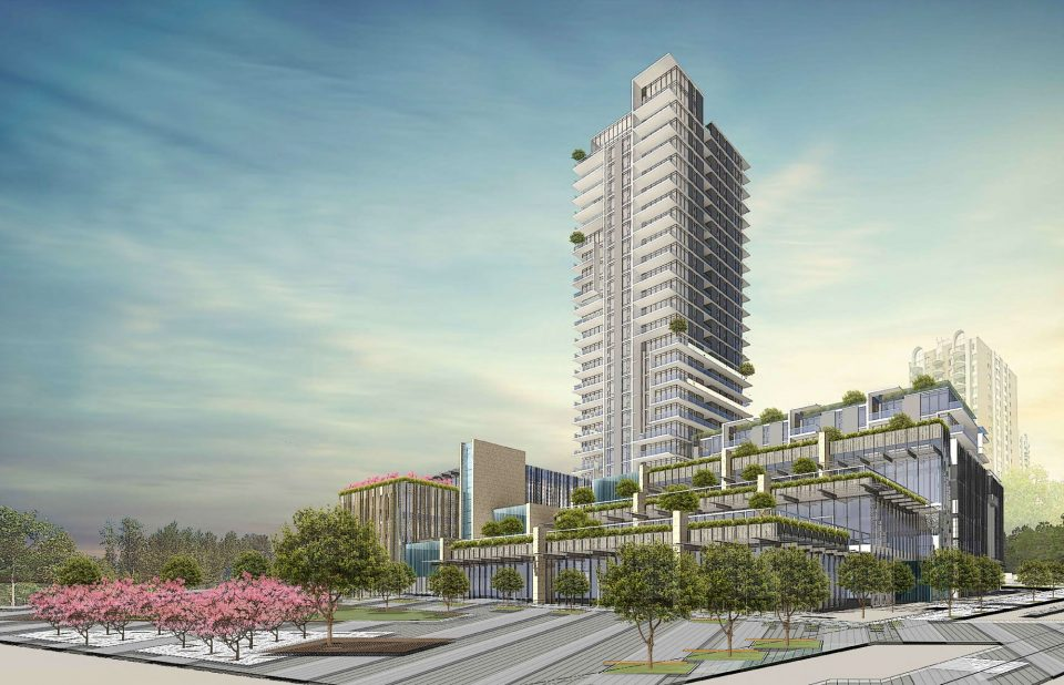 Onni Pearson Dogwood Cambie Gardens tower podium