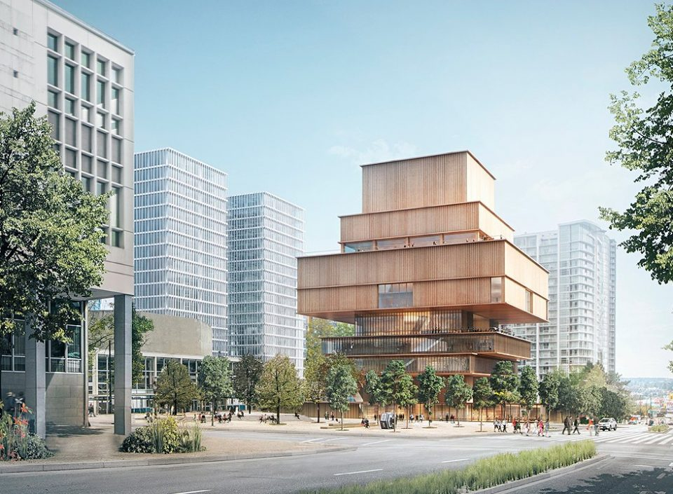 Conceptual design for the new Vancouver Art Gallery
