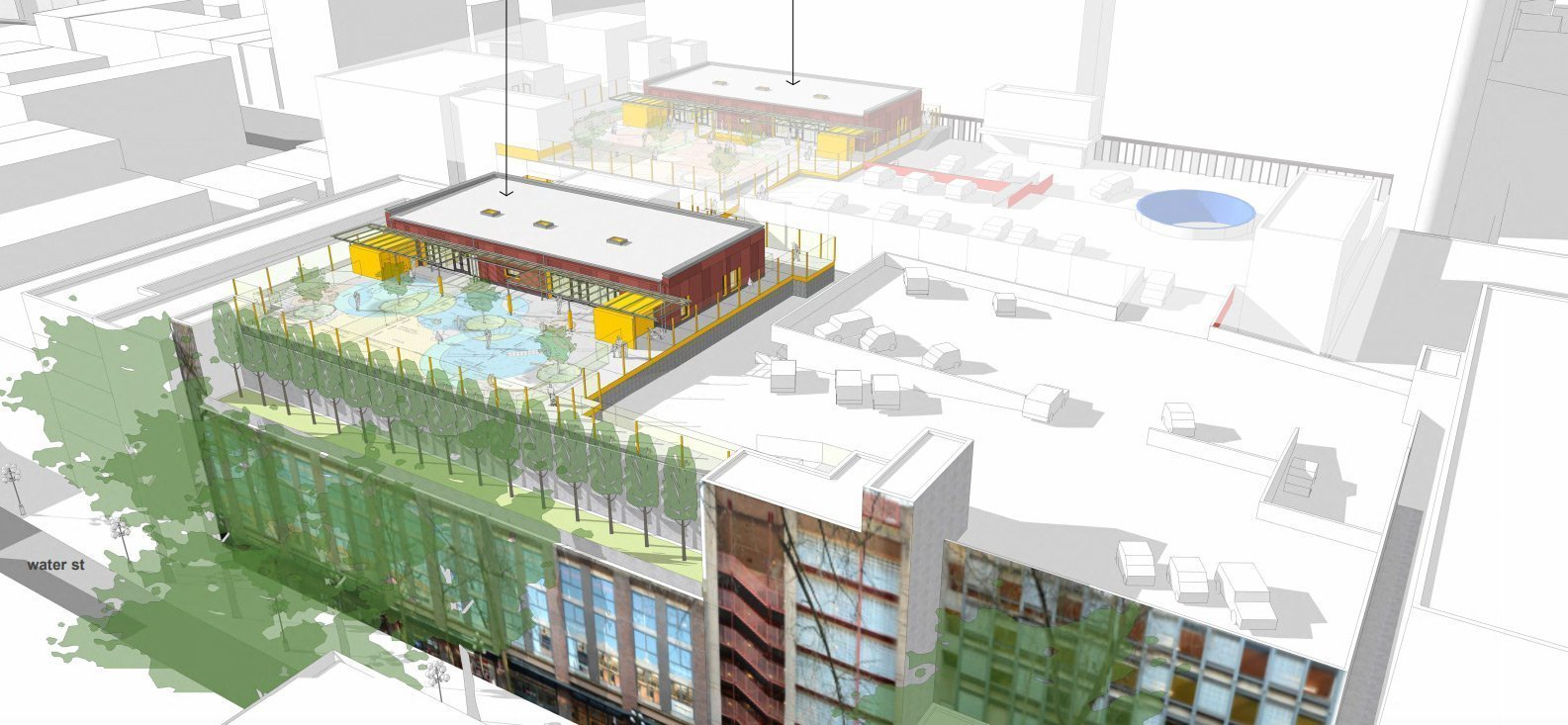 Gastown parkade daycare rendering