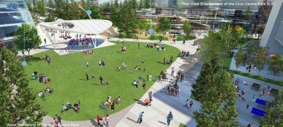 Oakridge Civic Centre Park rendering
