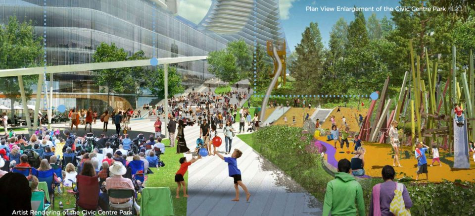 Oakridge Civic Centre Park rendering