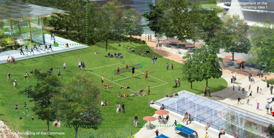 Oakridge Commons rendering showing sport court