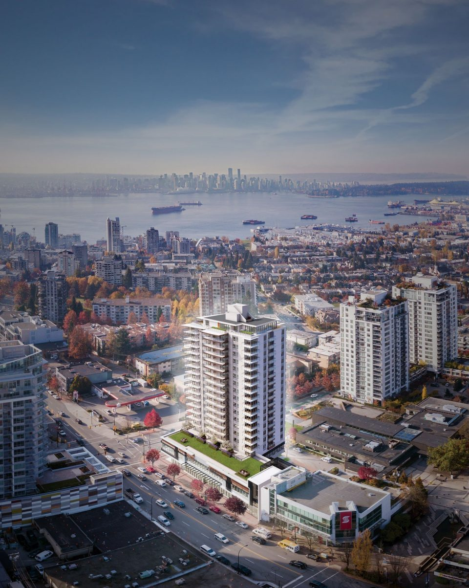 The Lonsdale North Vancouver rental apartments Birdseye View