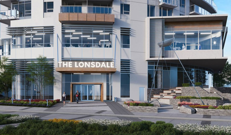The Lonsdale North Vancouver rental apartments lobby