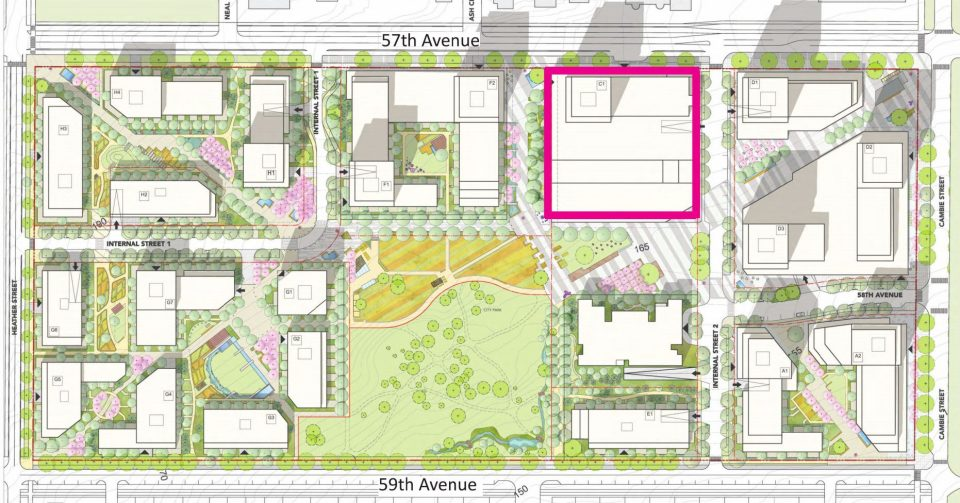 Cambie Gardens site plan