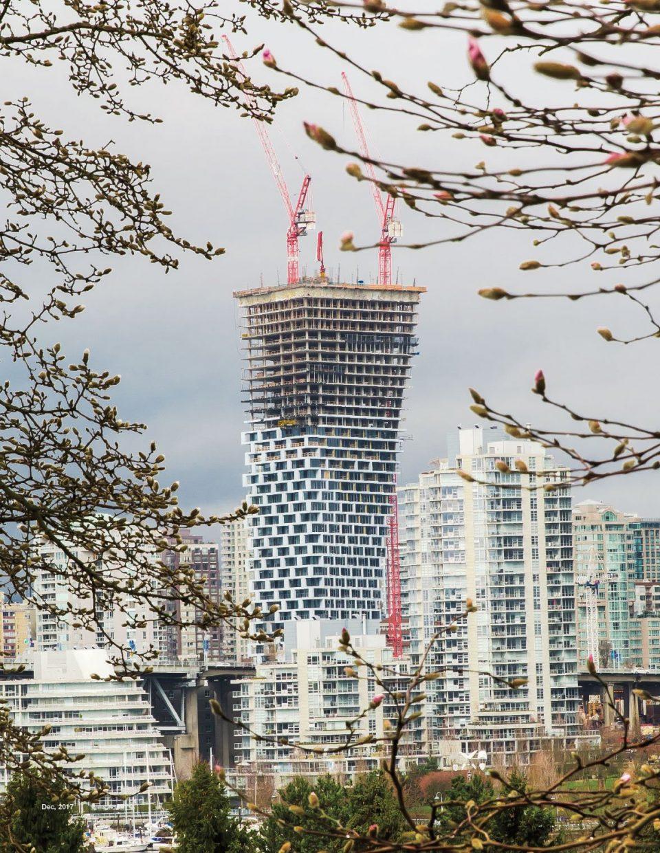 Vancouver House construction 2018