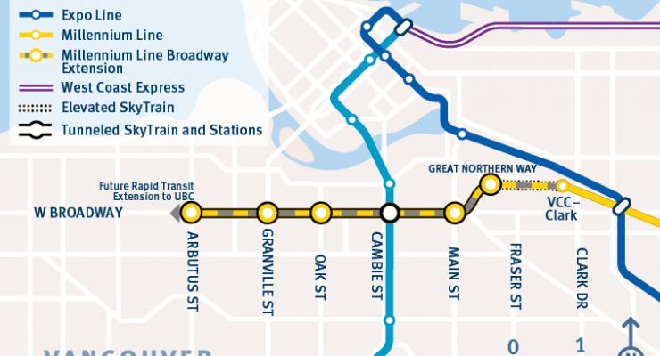 Broadway Corridor Millennium SkyTrain line extension