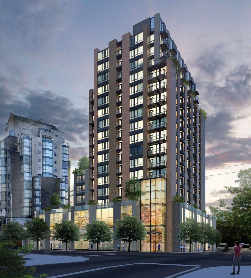 Dennys West Broadway rental apartment tower