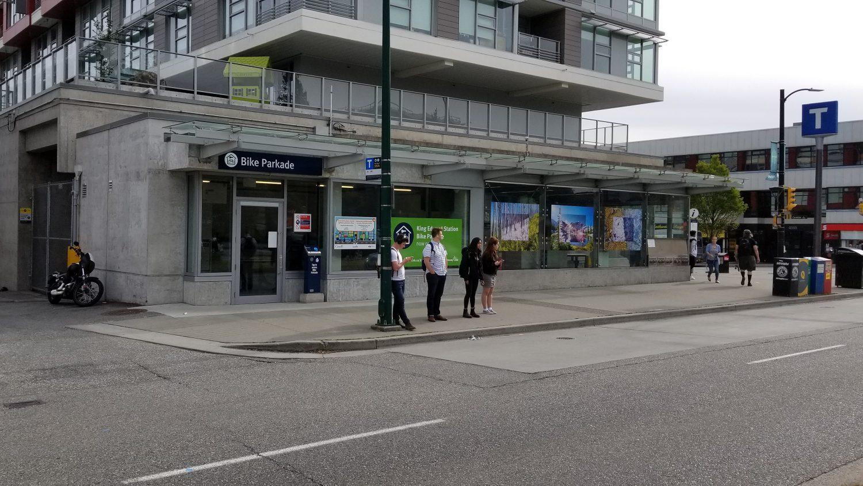 King Edward Station Canada Line Bike Parkade