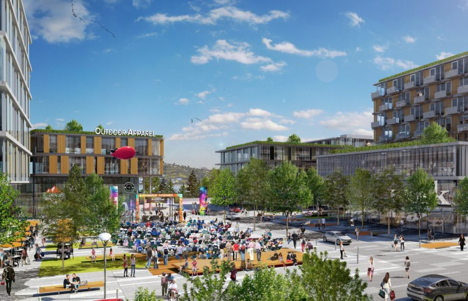 Rendering of Central Community Plaza