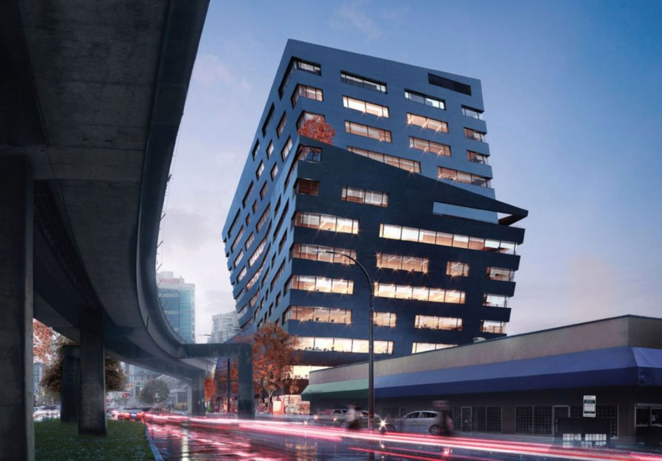 The Onyx Office Building by Rize Vancouver rendering