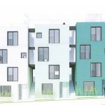 Colourful stacked townhouses proposed for West End laneway