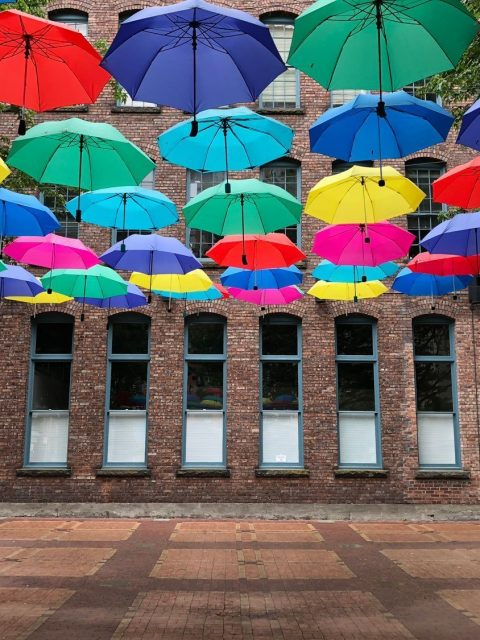 Yaletown Public Art Umbrellas