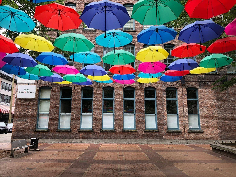 Yaletown Public Art Umbrellas