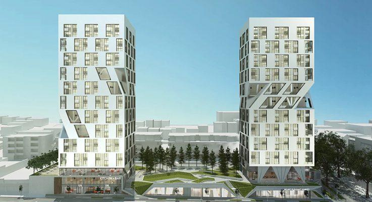Unique twin tower design for MEC West Broadway site surfaces