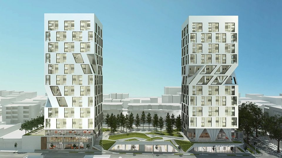 Unique twin tower design for MEC West Broadway site surfaces