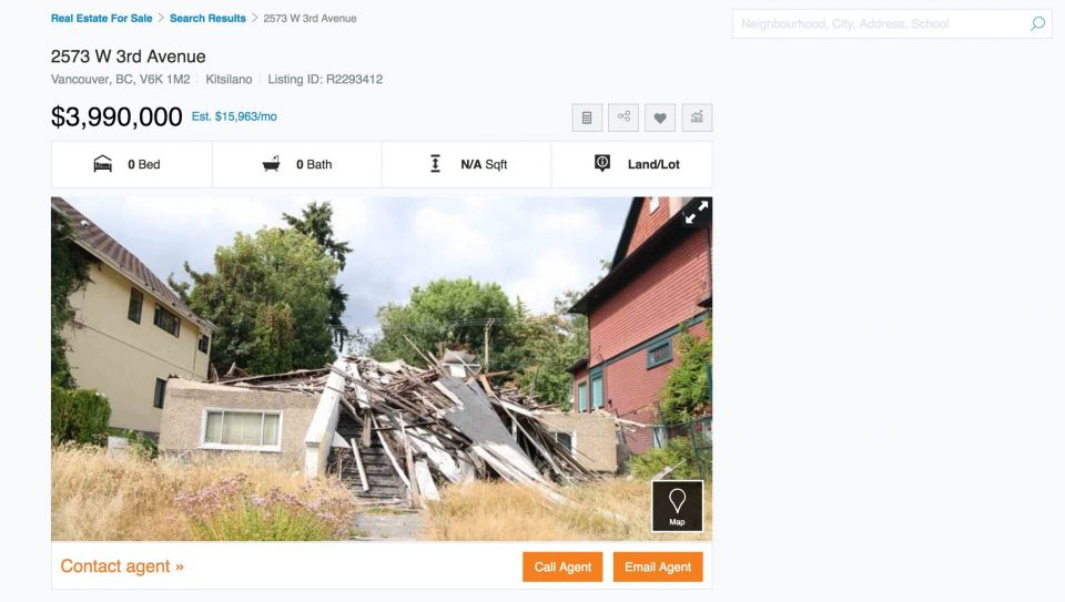 Kitsilano 'pile of rubble' for sale for nearly  million