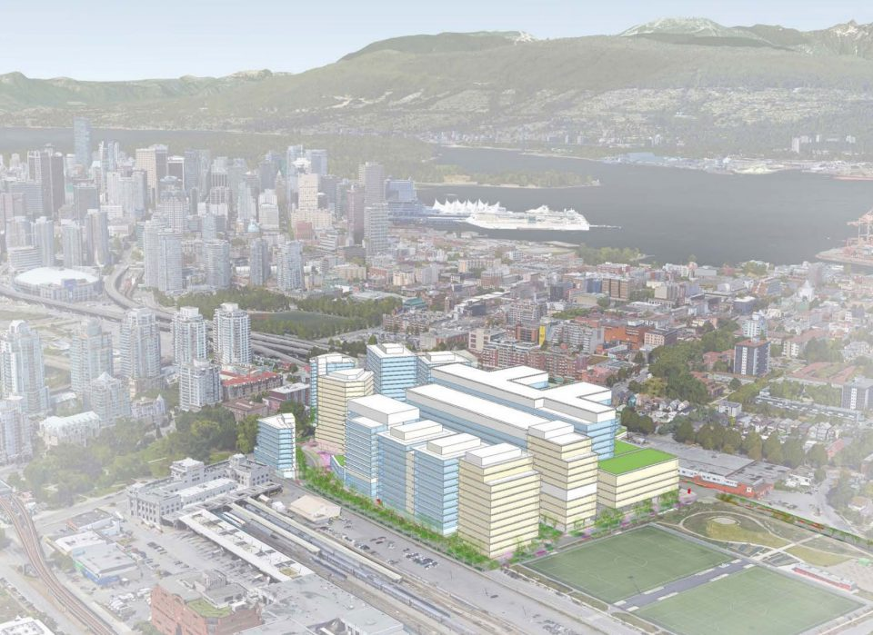 Design for St. Pauls Hospital Health Campus - View from Southeast