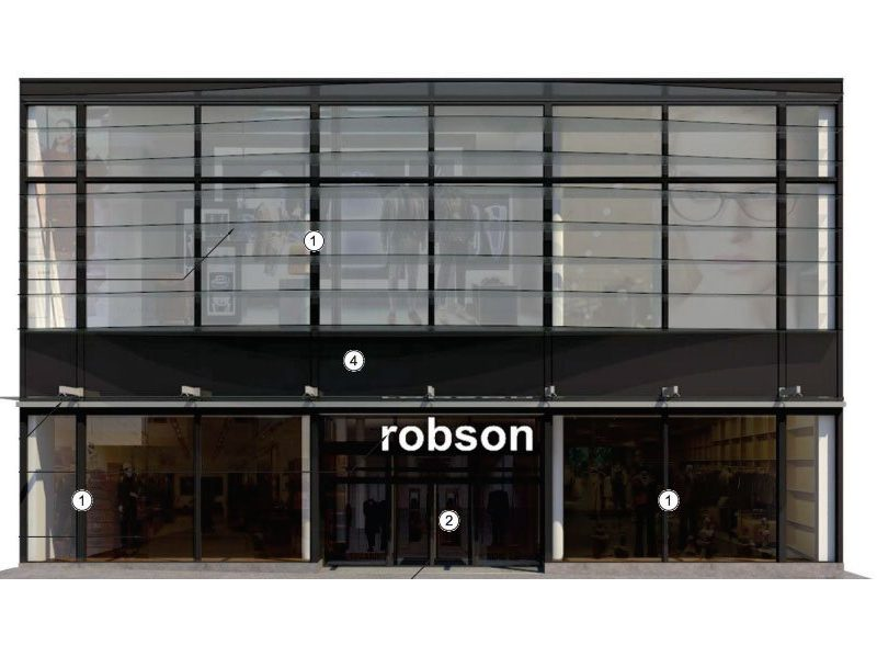 Robson Street new retail space