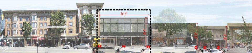 Robson Street retail streetscape
