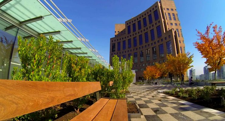 VPL rooftop patio bench
