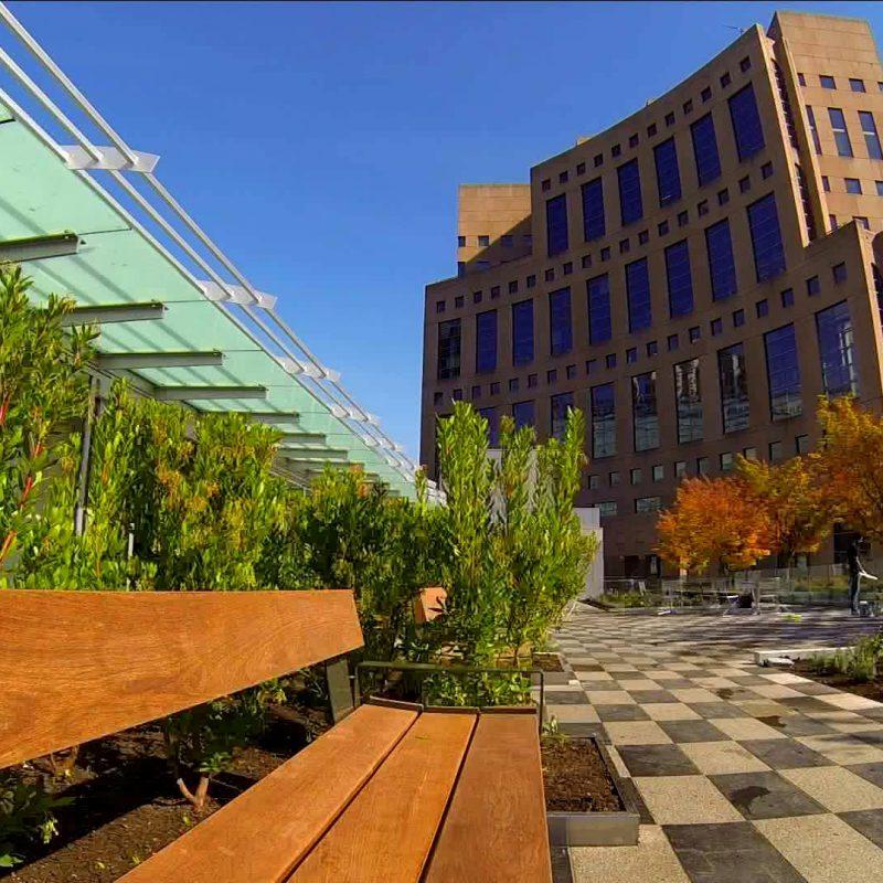 VPL rooftop patio bench